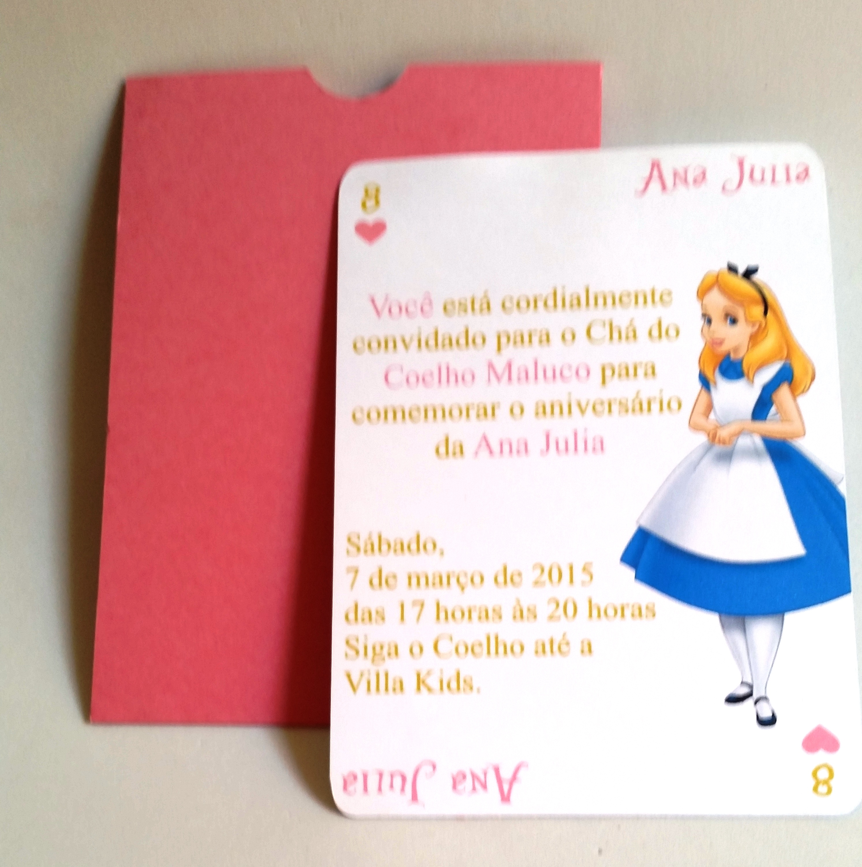Convite Alice No Pais Das Maravilhas Elo7