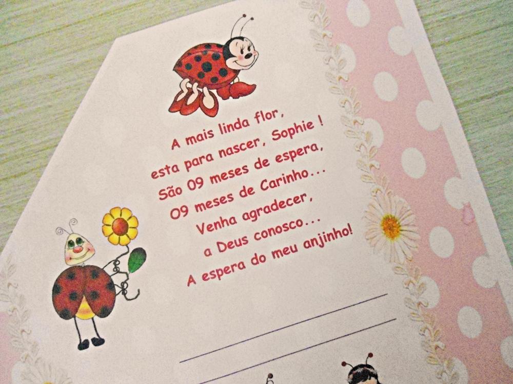Convite Ibiza Chá De Fraldas Joaninhas No Elo7 Ferraz Convites