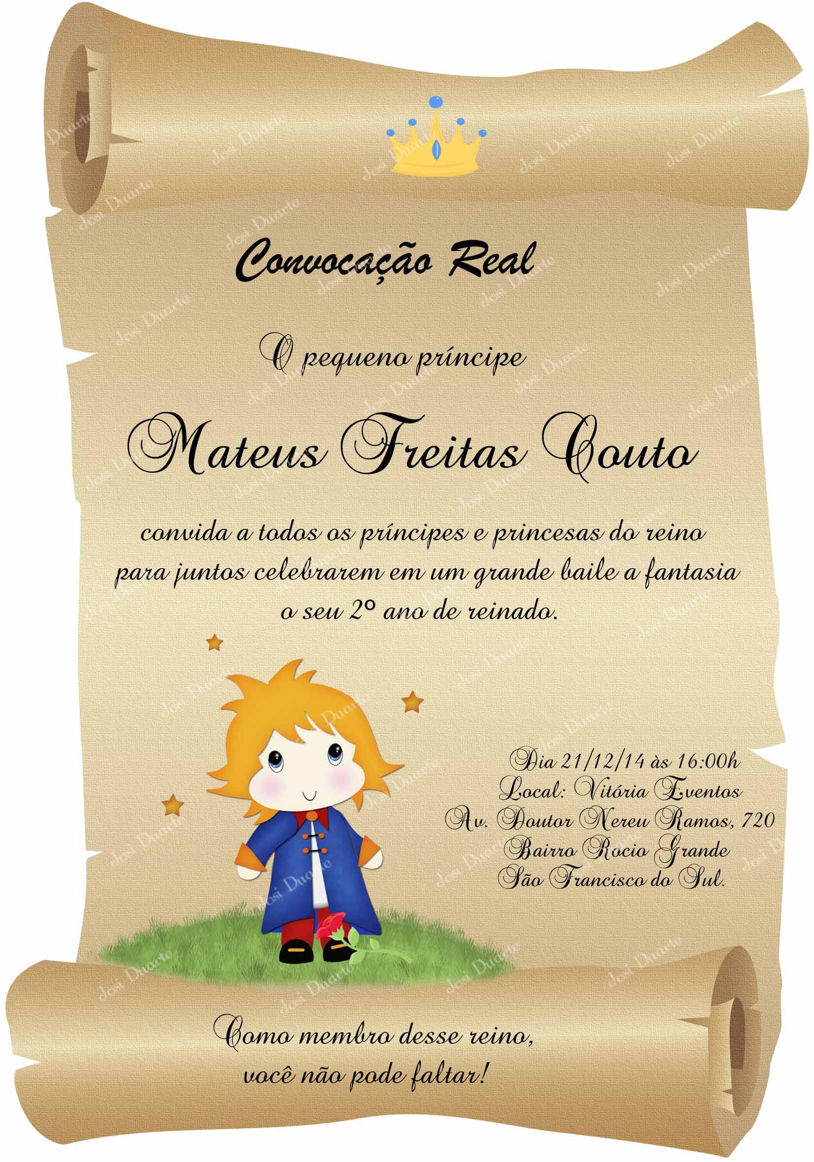 Convite Pergaminho Pequeno Príncipe no Elo7 | Loja Criativa Presentes  Personalizados- Ateliê Josi Duarte (4F0385)