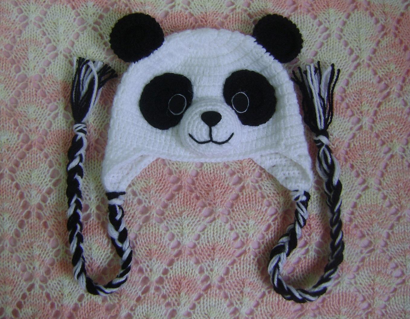 RN - Gorro Panda em Crochê Para Bebê no Elo7  d38118c5479