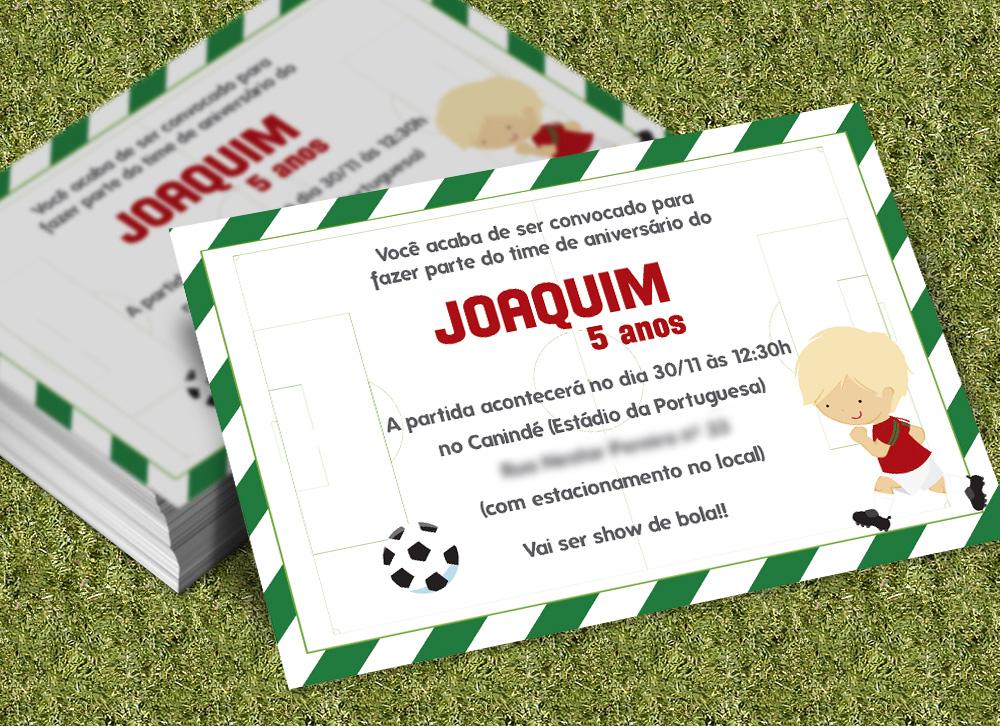 Convite Tema Futebol Elo7