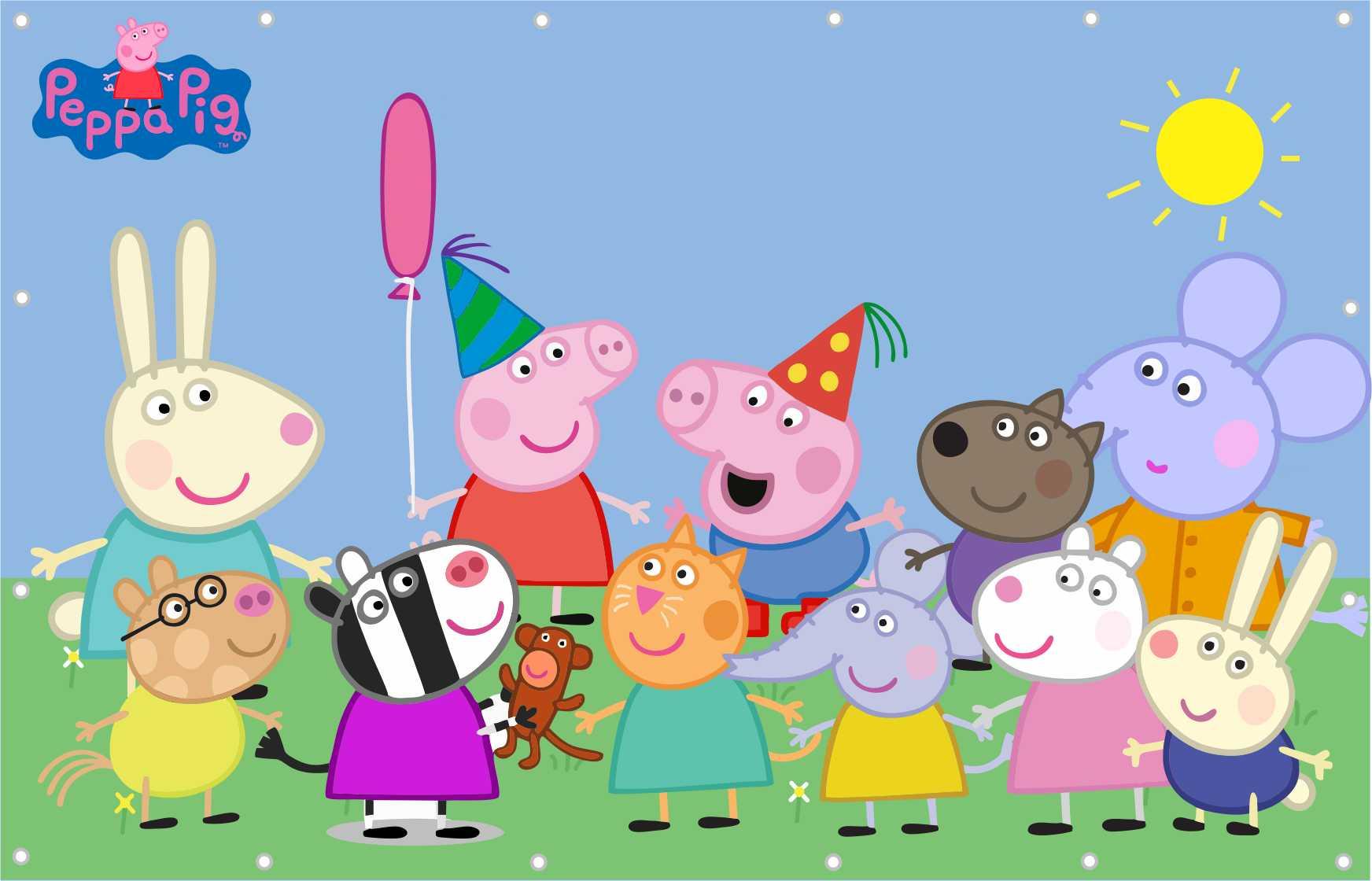 Painel Peppa Pig Banner Peppa Pig Festa no Elo7 | Estampa do Seu Jeito  (4F251C)