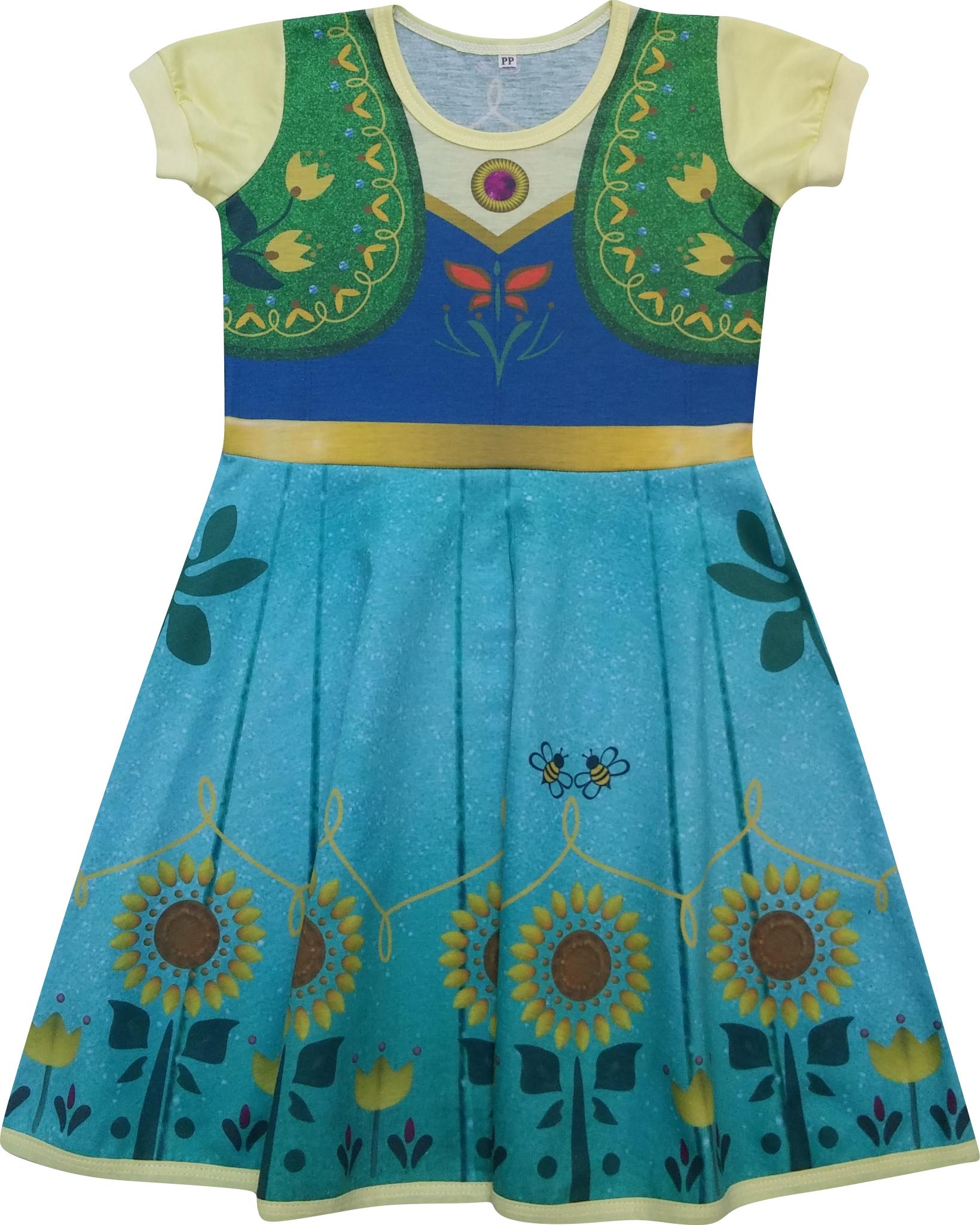 Vestido Da Frozen Infantil Elo7