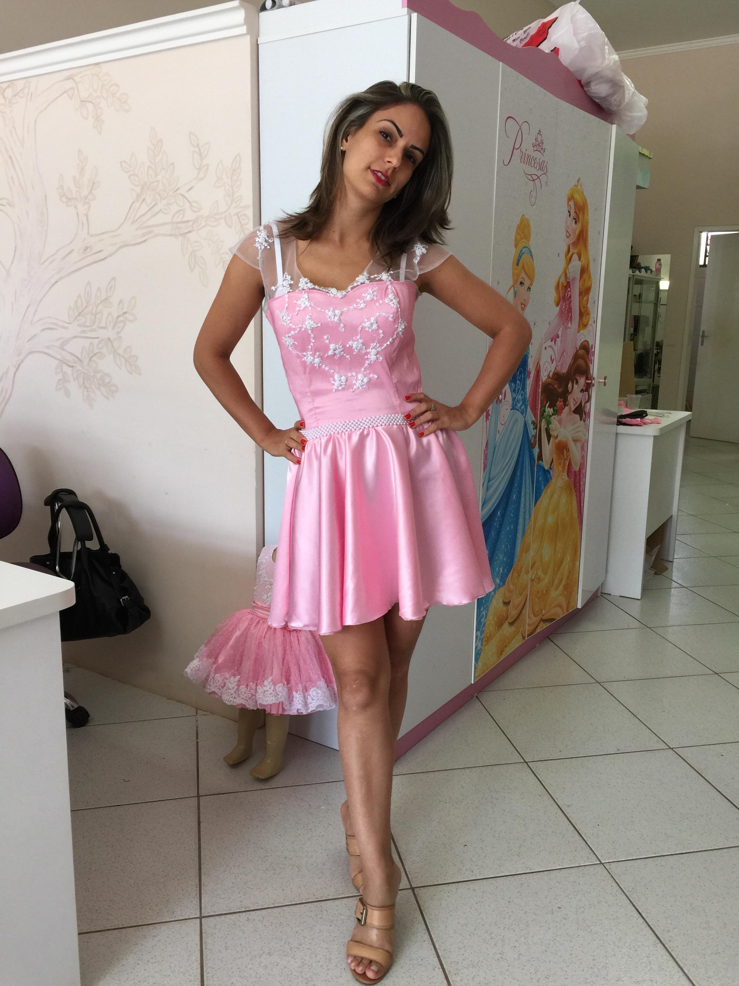 vestido tal mae tal filha rosa luxo tal mae e tal filha