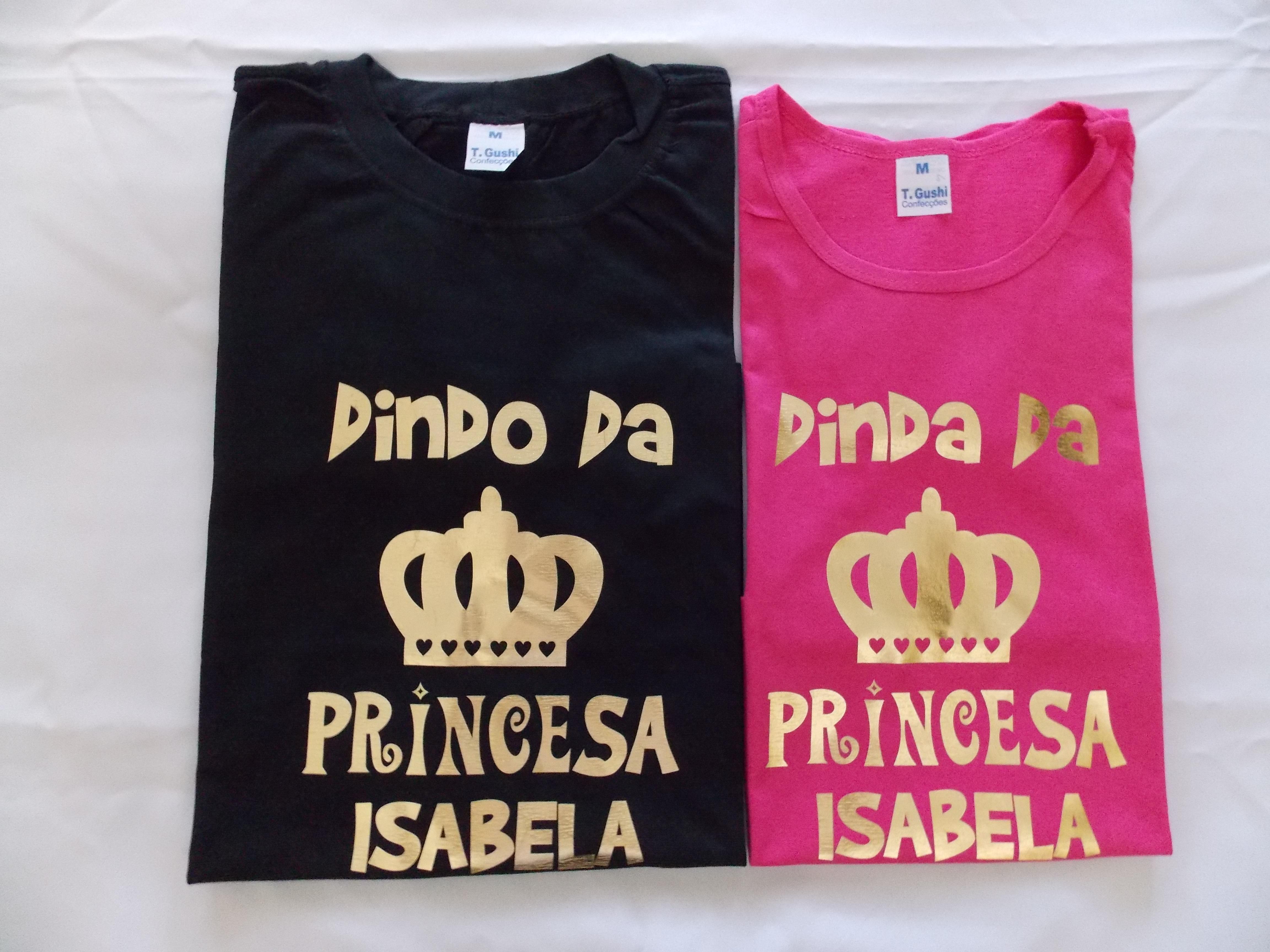 7a4928a080 Camiseta Personalizada Kit Dinda e Afilhada