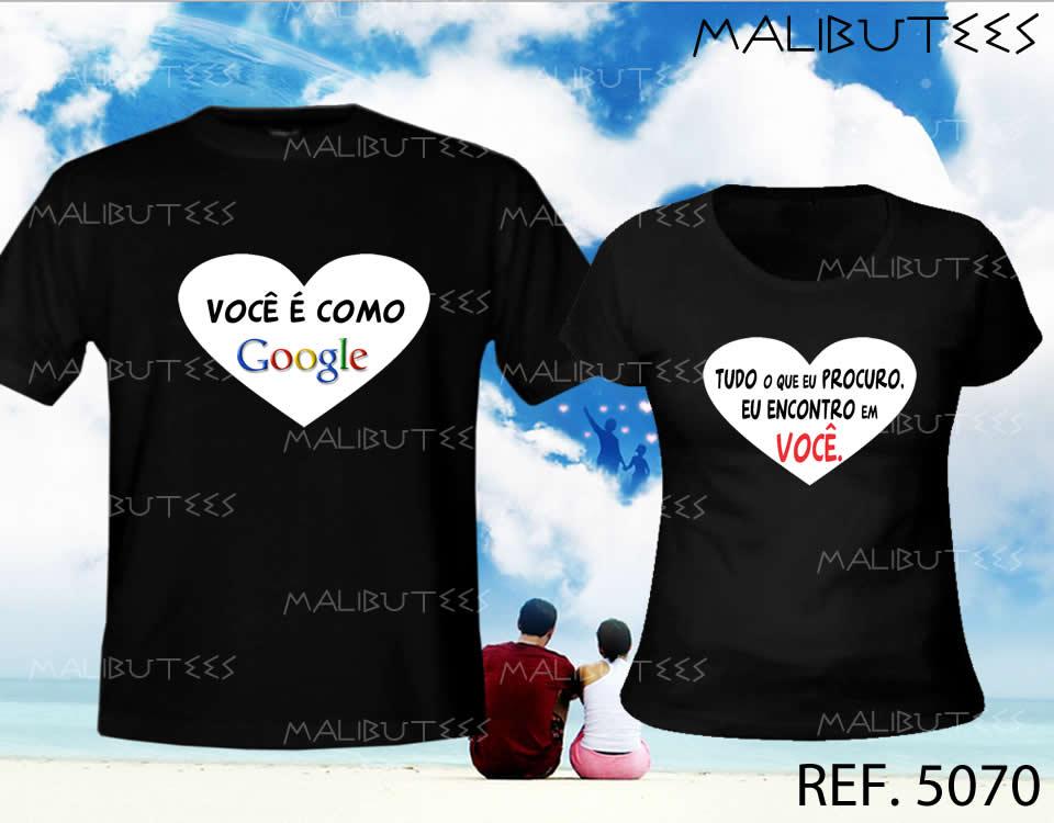 camiseta namorados love kit com 2 no Elo7  817e76a791962