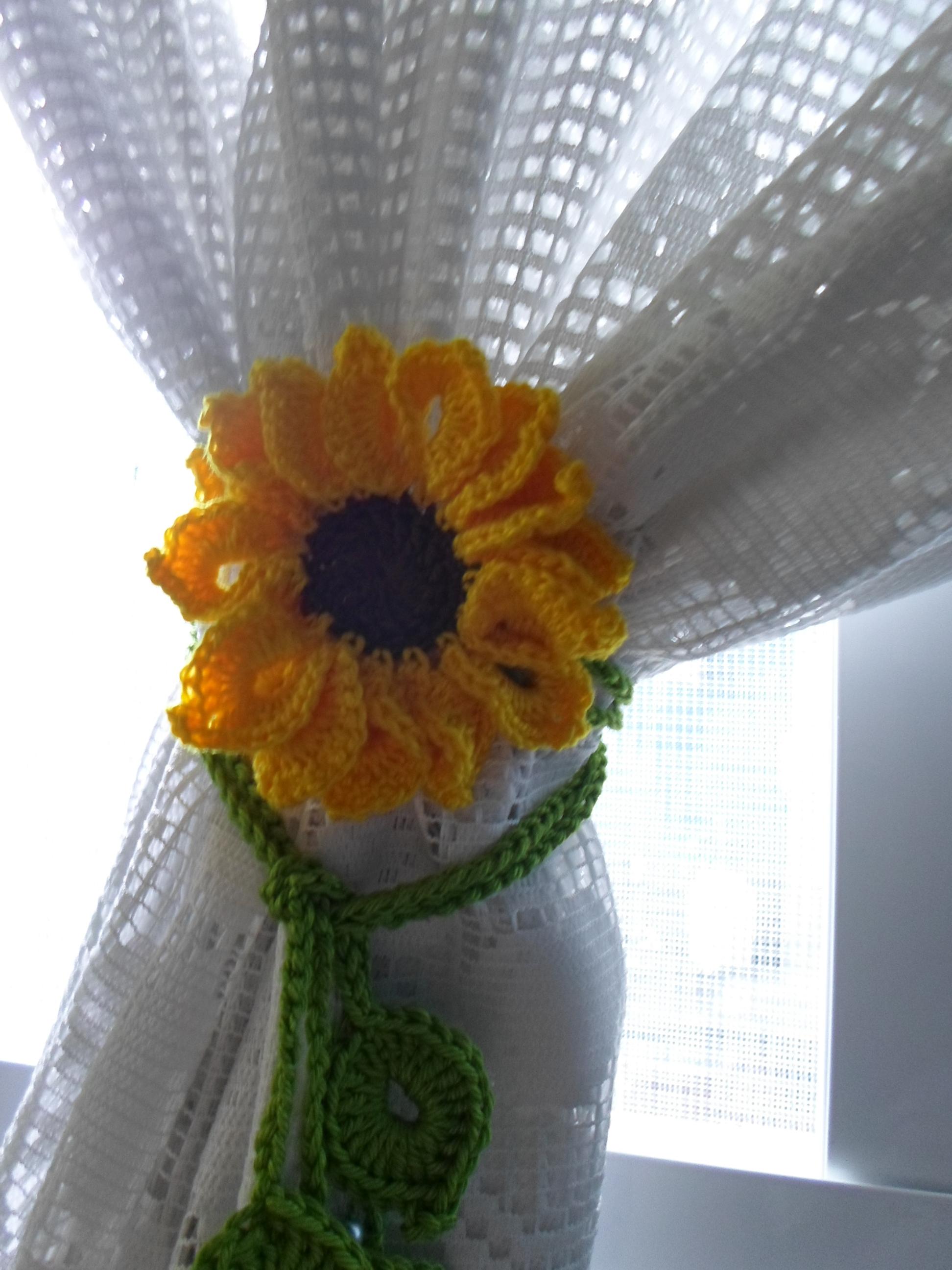 Muito Prendedor de cortina - Girassol no Elo7 | Laboratório de Crochê  ZL34