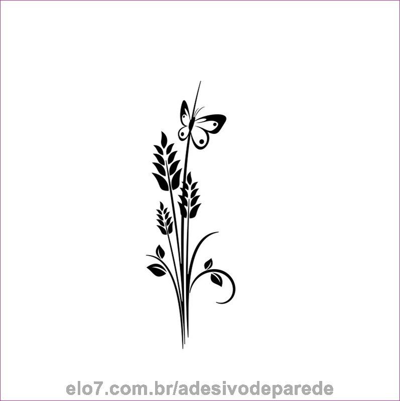Adesivo De Parede Arranjo De Flores No Elo7 Adesivos De Parede