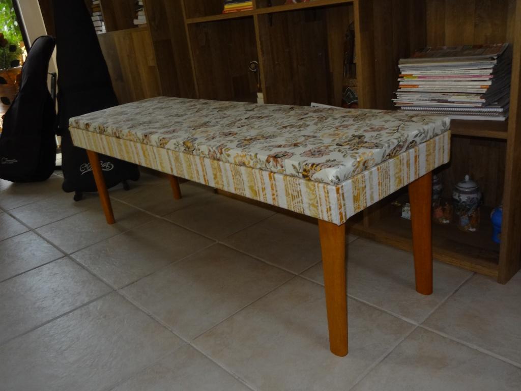 Banco Estofado Para Sala De Jantar ~ bancoestofadoestilofloralmodelosdebancodemadeira