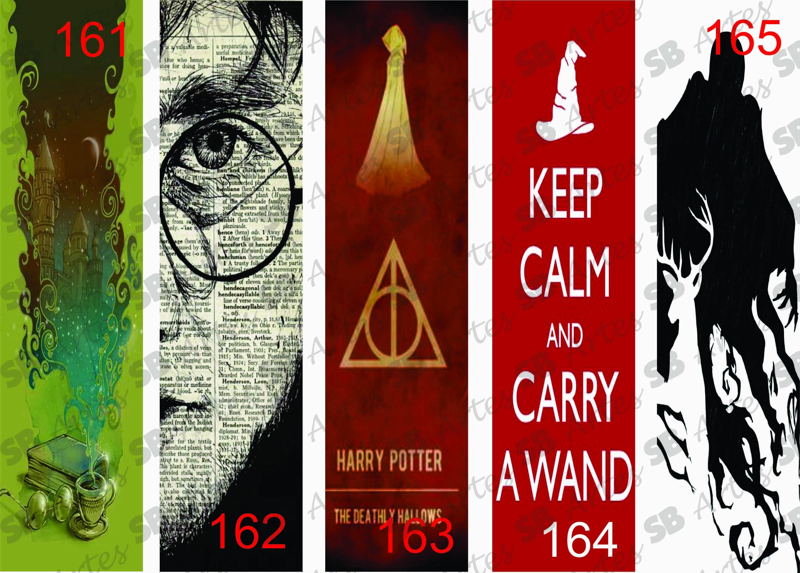 Marcadores De Paginas Harry Potter No Elo7 Sb Artes 50ae57
