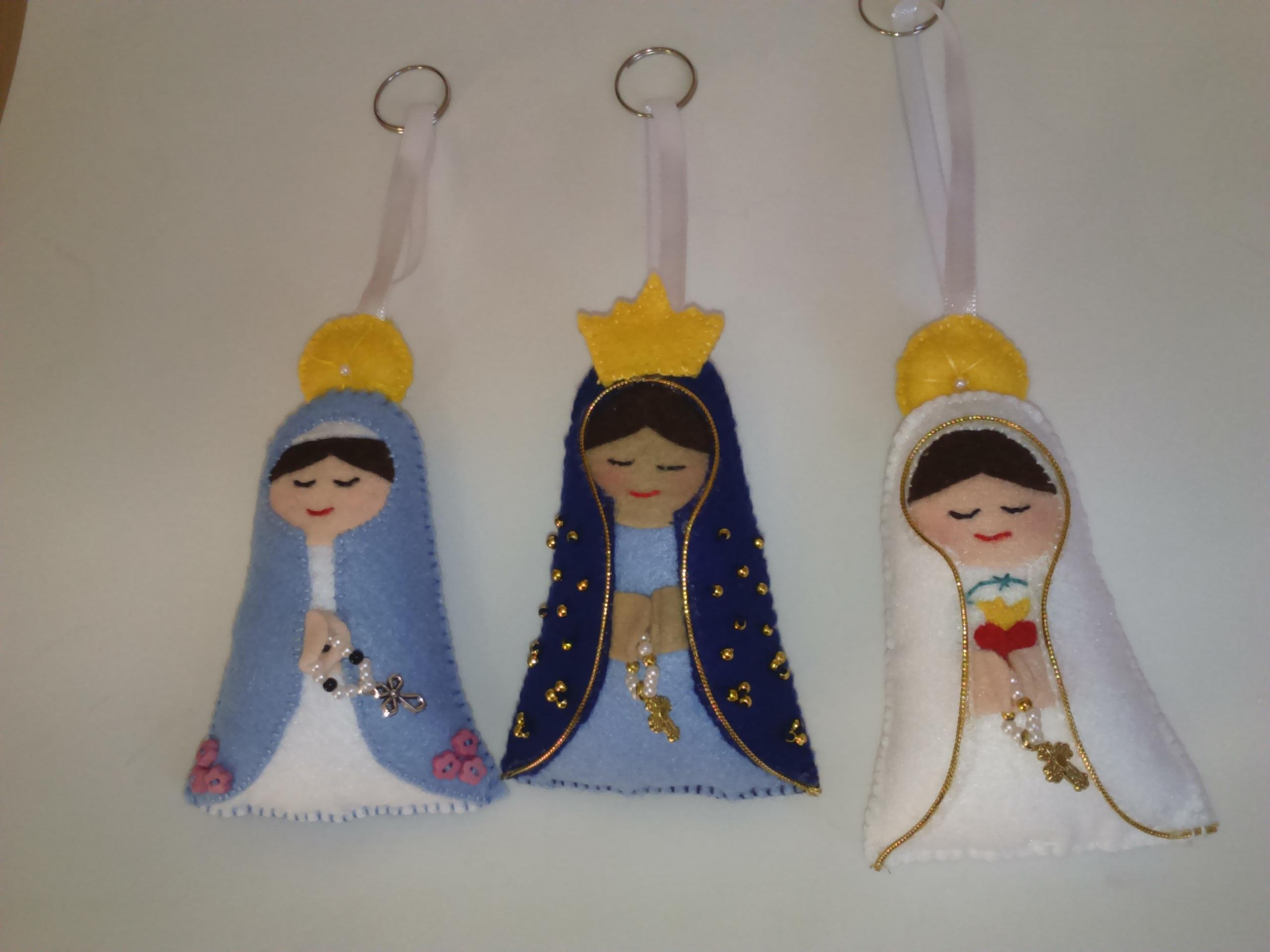 Nossa Senhora Aparecida Nossa Senhora De Fatima: Santinhas De Feltro