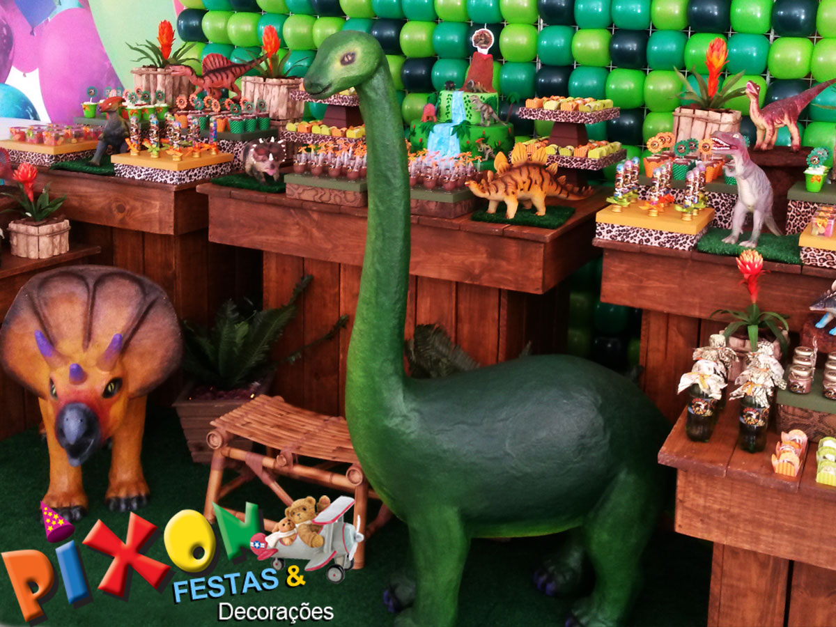 Decoraç u00e3o Dinossauros Festa Infantil Decoraç u00e3o de Festas Pixon Elo7 -> Decoraçao De Dinossauro Para Festa Infantil