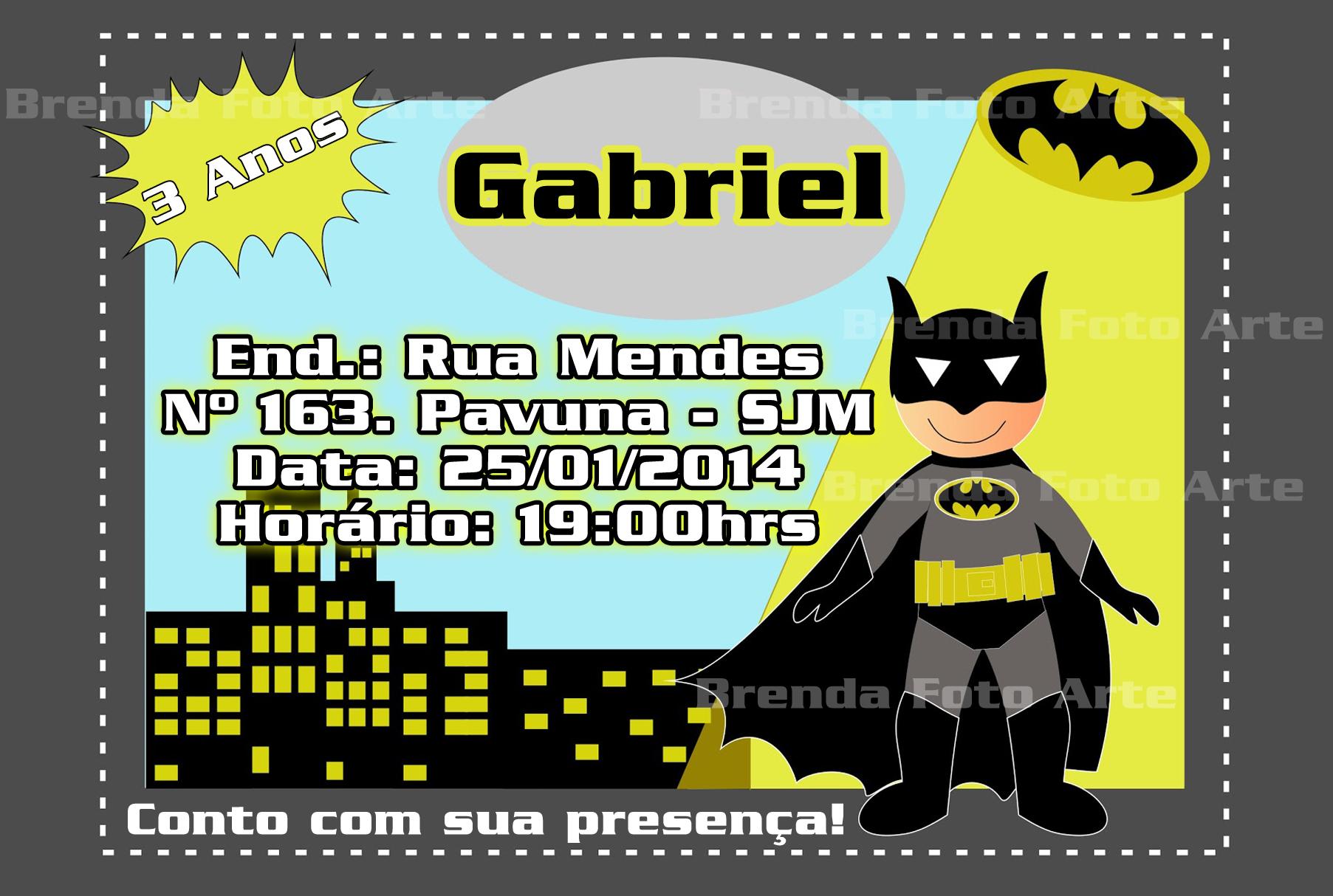 Convite Aniversário Batman Elo7