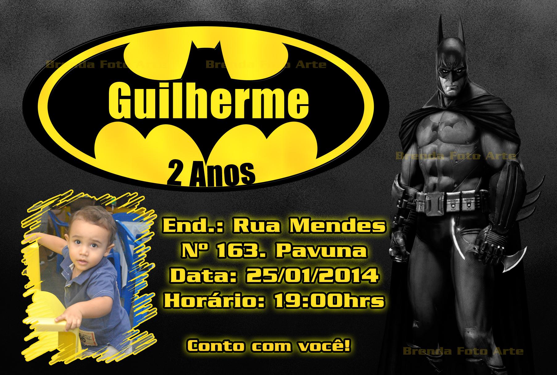 Convite Virtual Batman Elo7