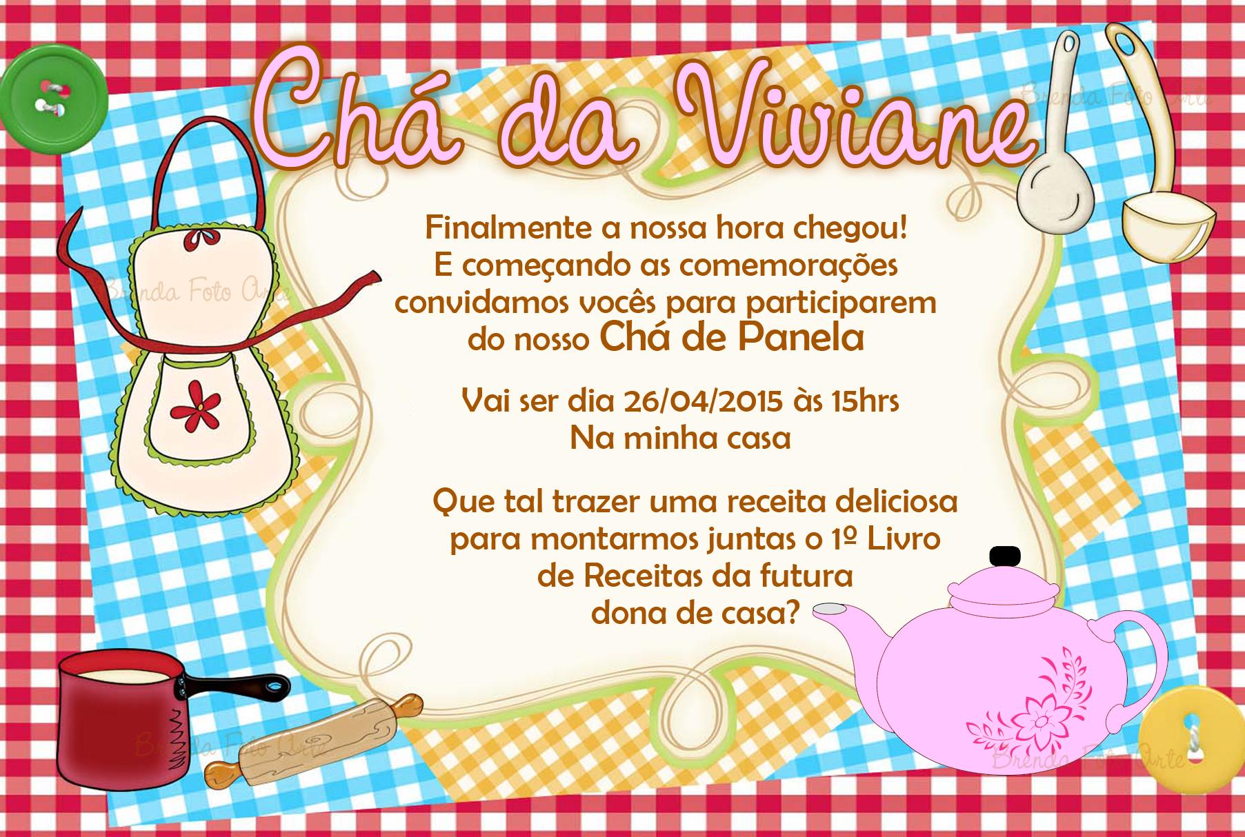 Convite Chá De Panela No Elo7 Brenda Foto Arte 516125