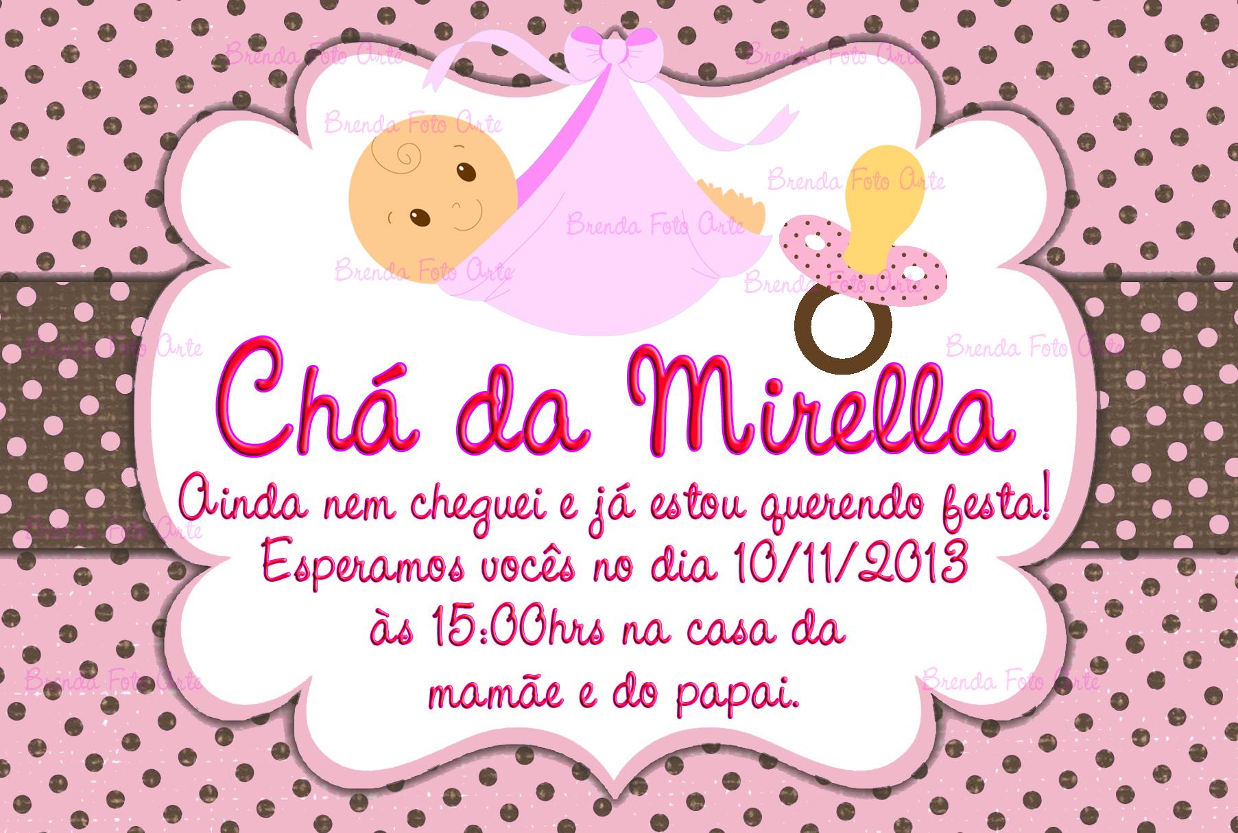 Convite Chá De Bebê Menina No Elo7 Brenda Foto Arte 51619c