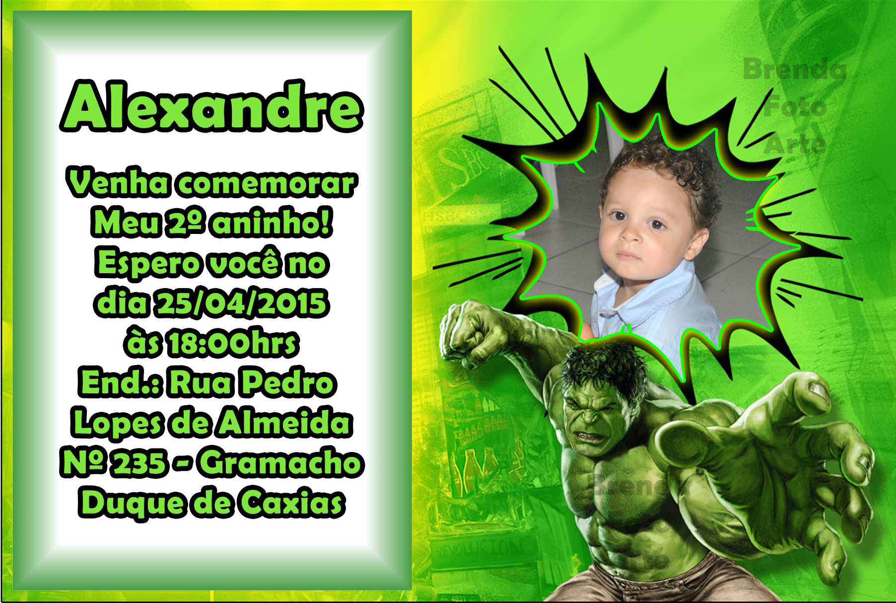 Tag Hulk No Elo7 Brenda Foto Arte 5b1b38