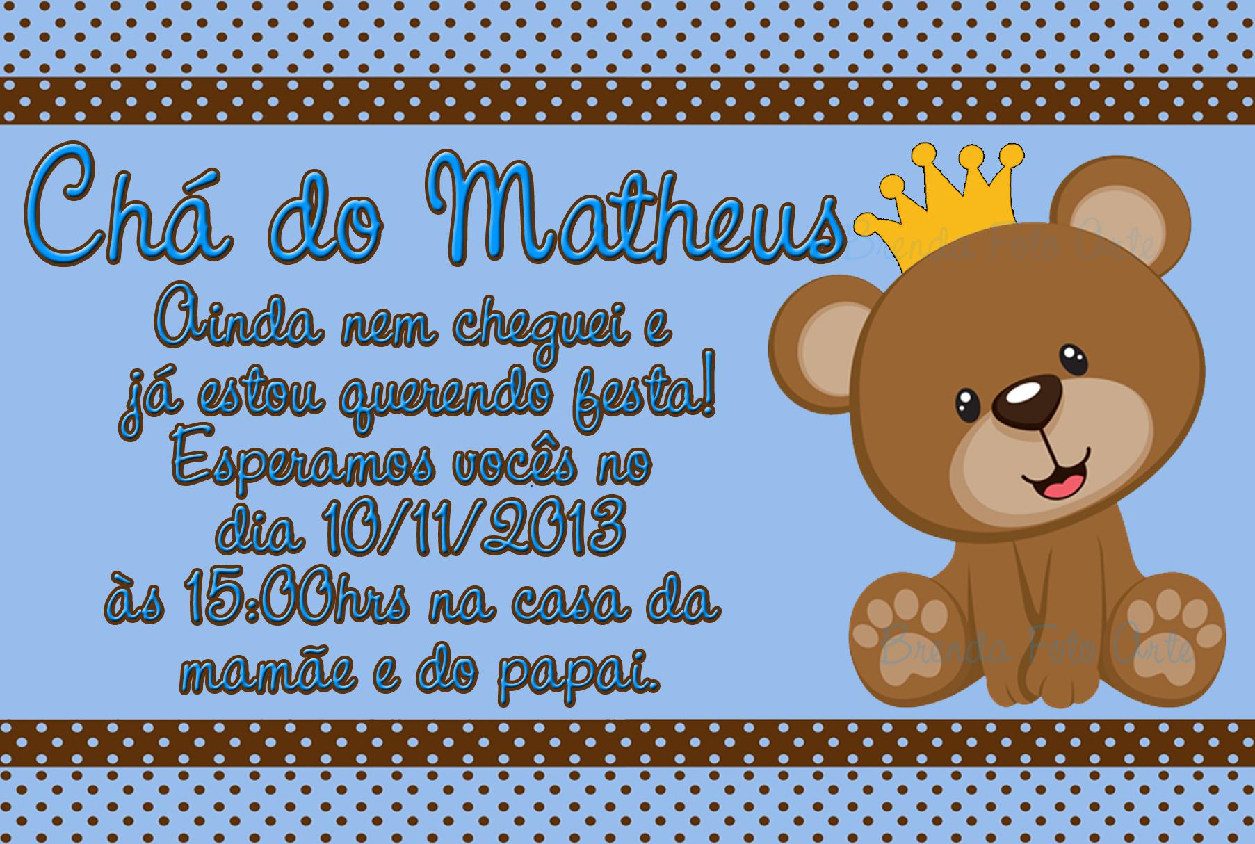 Convite Ursinho Príncipe No Elo7 Brenda Foto Arte 517410