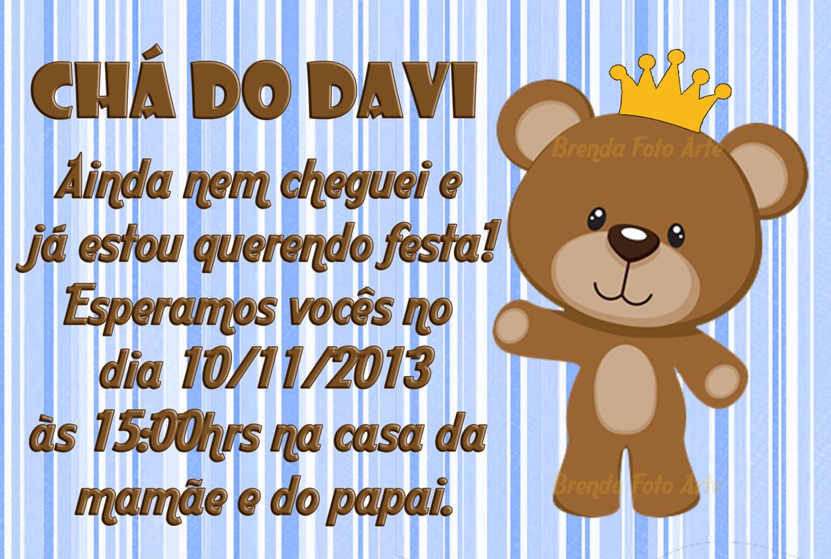 Convite Ursinho Principe No Elo7 Brenda Foto Arte 51743a