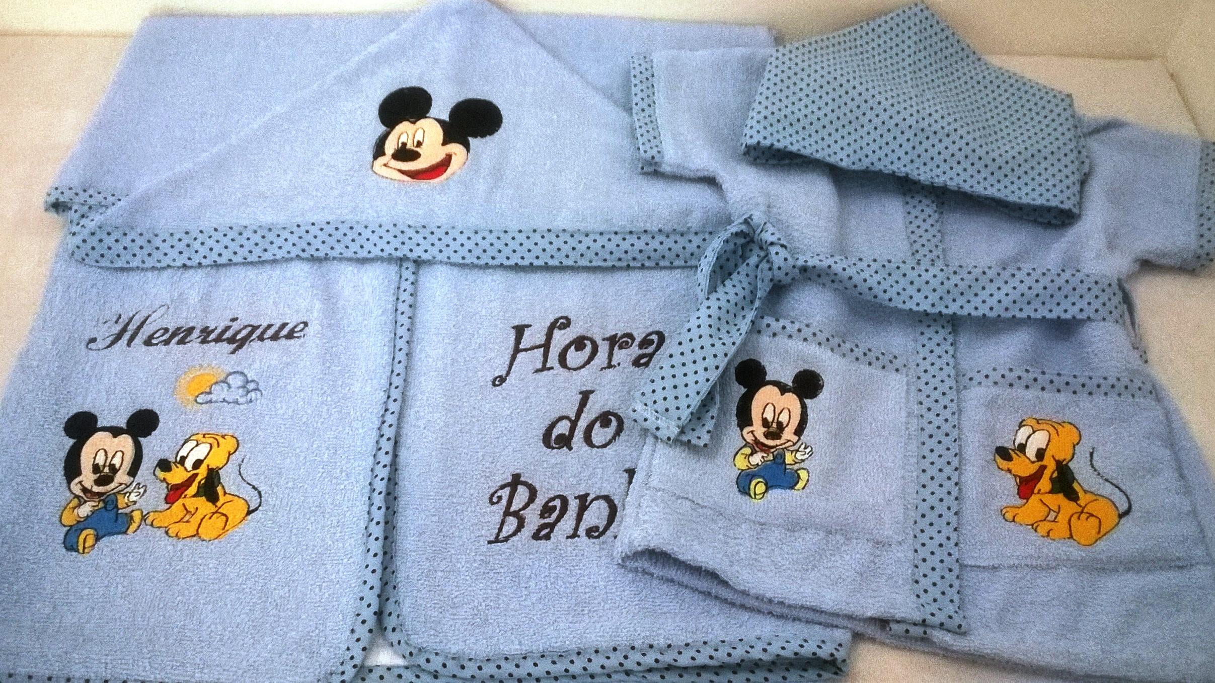 5bbda66c58 Roupao de Banho Infantil Mickey Mouse
