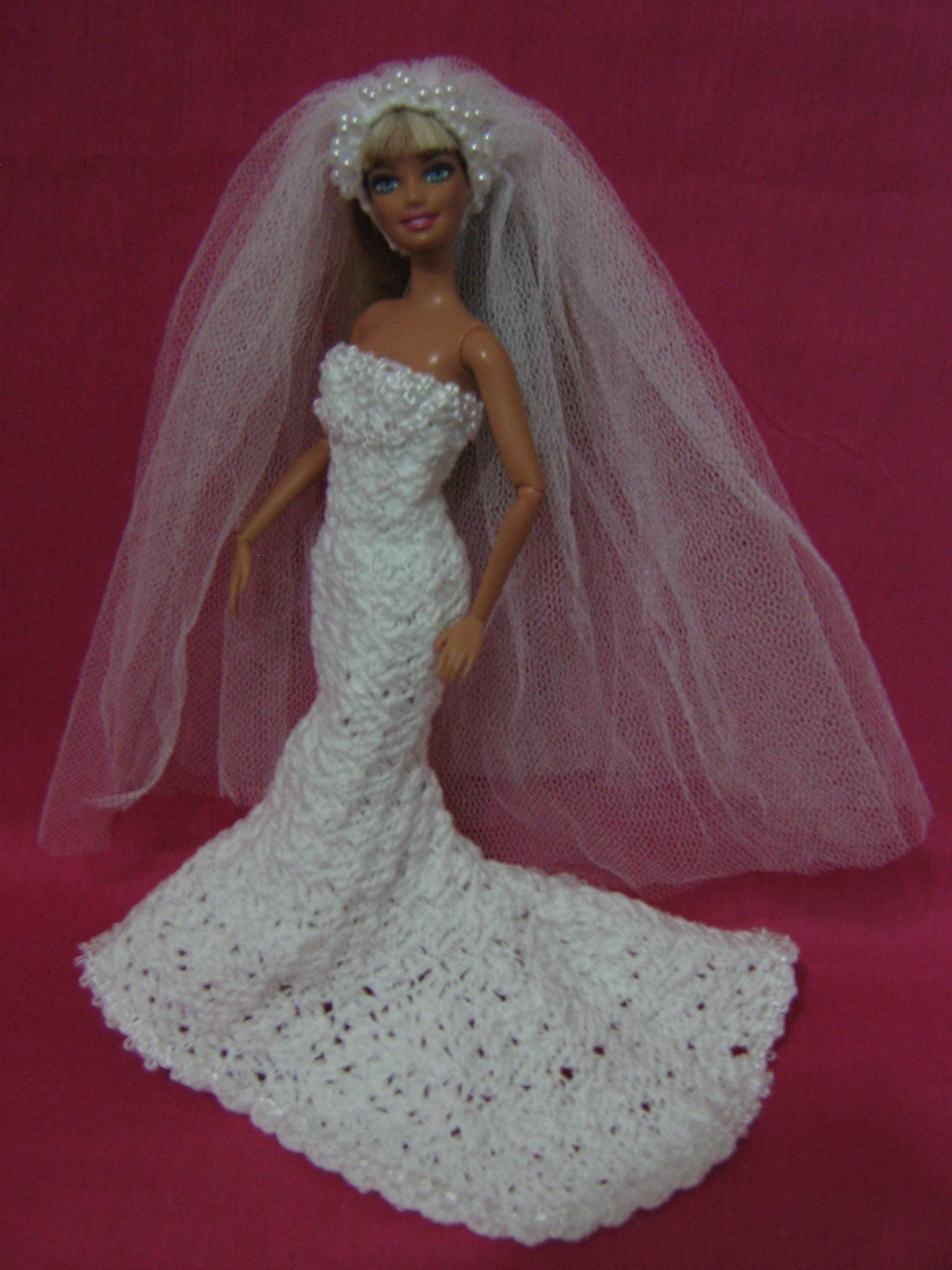 Barbie Noiva ~ vestido de noiva para Barbie AMELIARTES Elo7