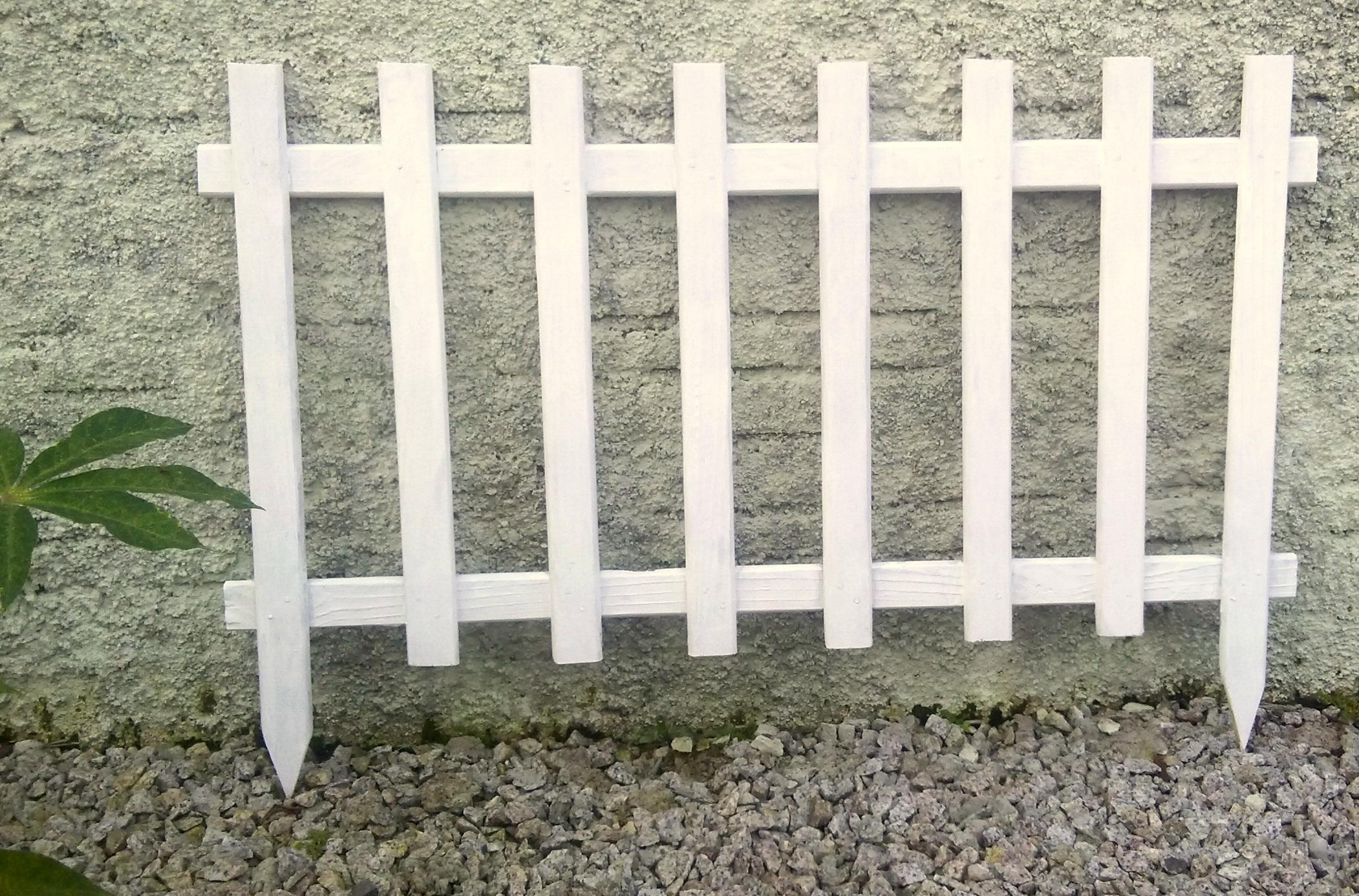 Cerca para jardim branca  Arte do Manezinho  Elo7