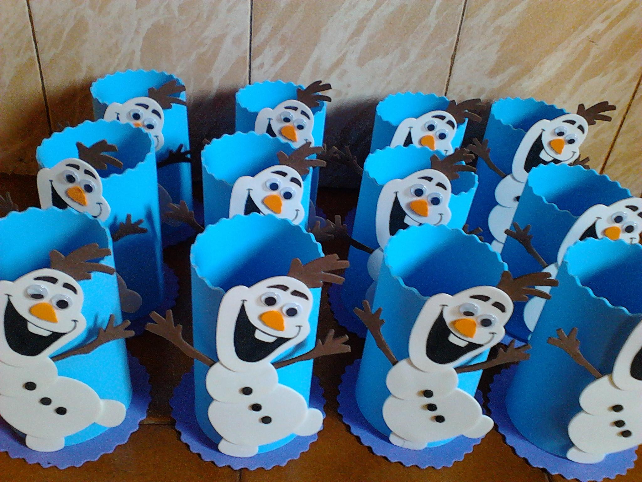 Centro de mesa olaf frozen mimos da mi elo7 for Centros de mesa de frozen