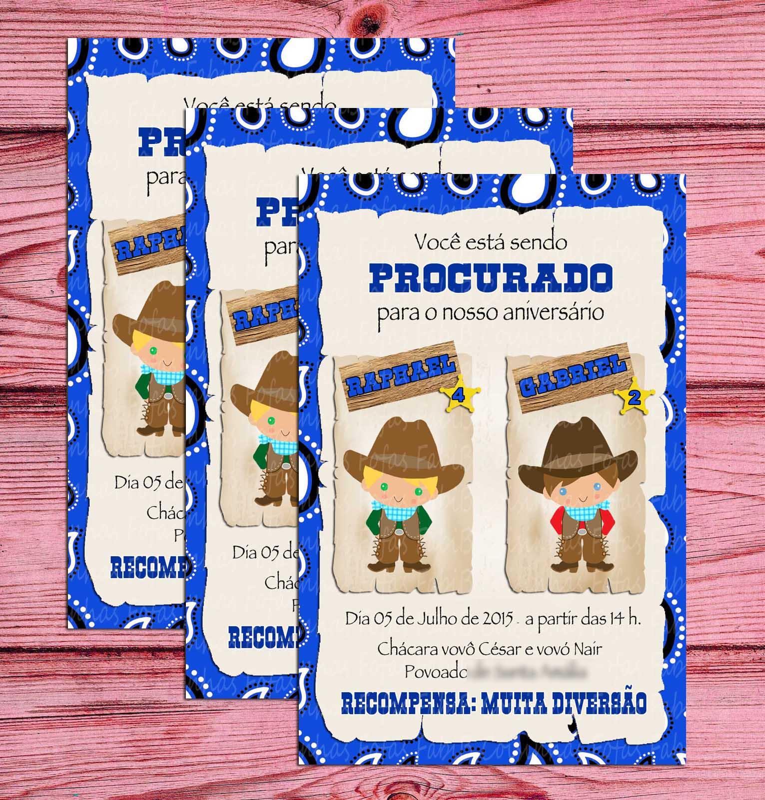 d990581555905 Convite Cowboy
