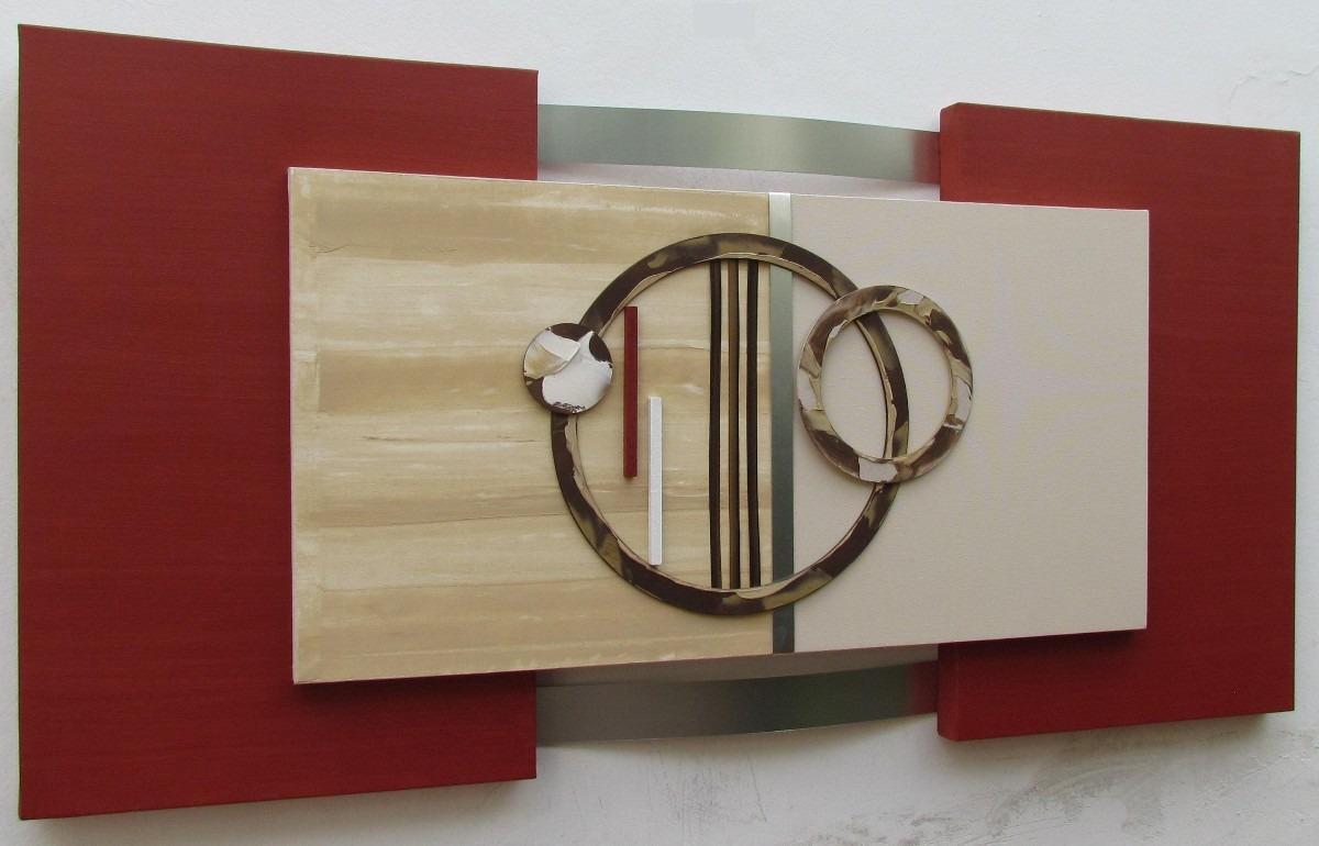 Quadro Abstrato Moderno Tam 60x120cm No Elo7 Galeria Portinari  -> Quadro Abstrato Sala De Jantar