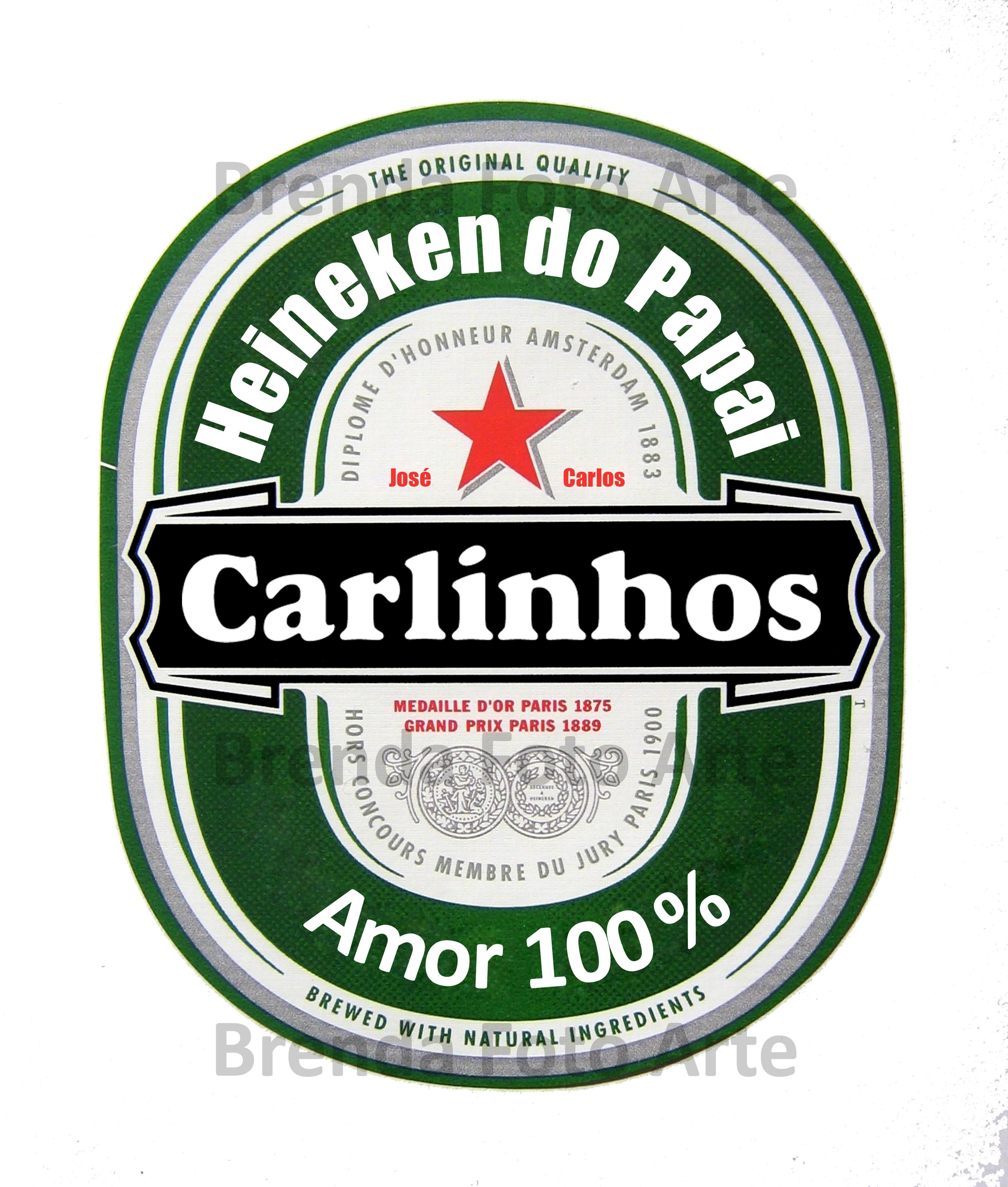 Arte Para Rotulo De Cerveja Heineken Elo7