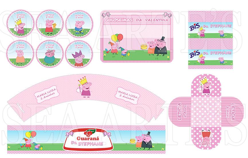 Arte Kit Digital Peppa Pig No Elo7 Sea Artes 492b29