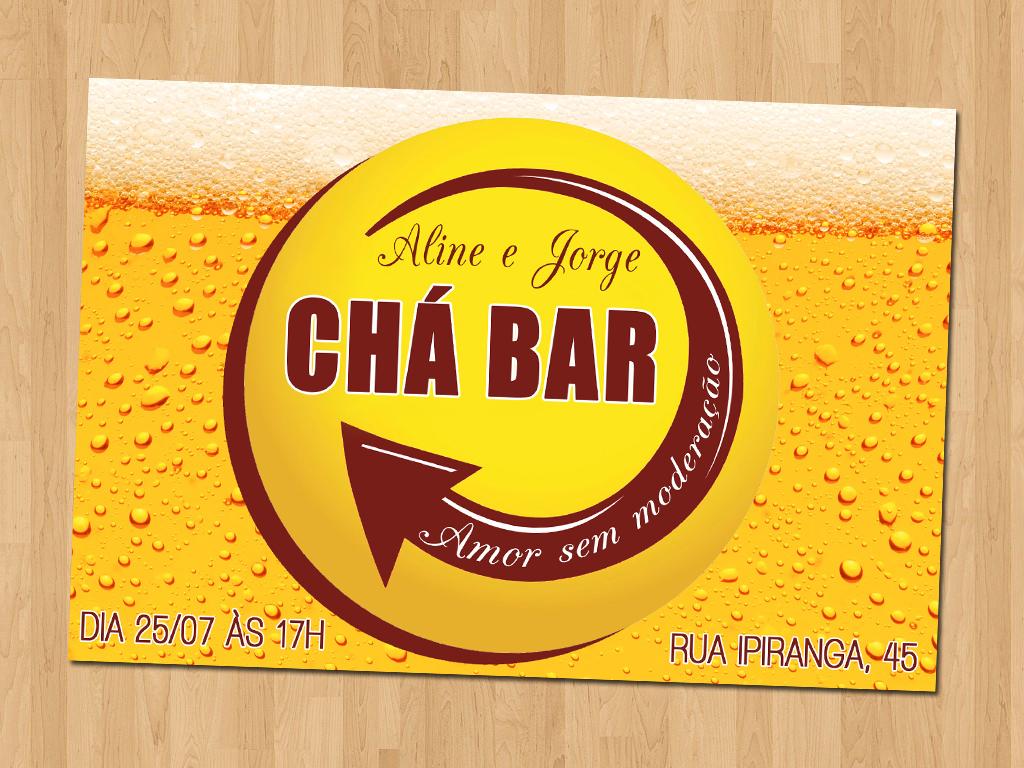 Convite Cha Bar Skol Elo7