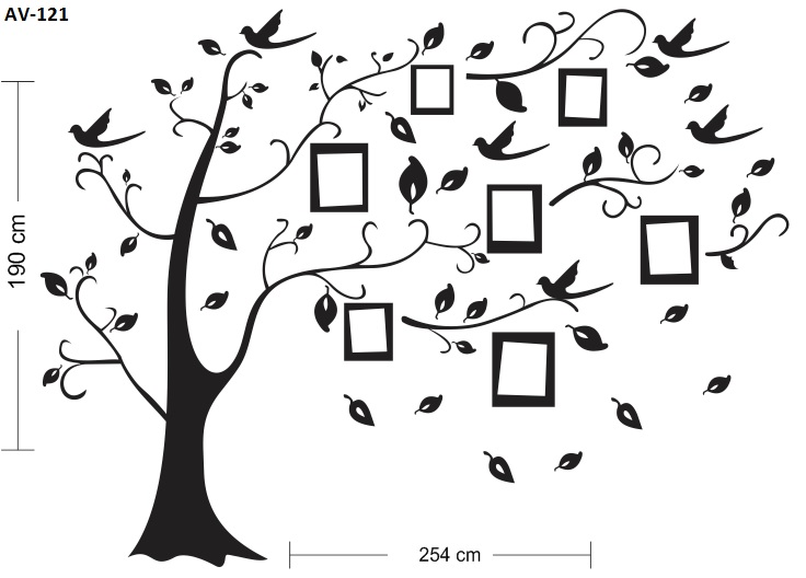 Fabuloso Adesivo Decorativo De Parede Árvore 2 MT | GAUDESIVOS | Elo7 NY03