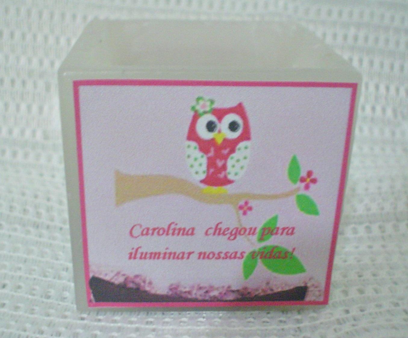 Preferência kit 10 Lembrancinhas de bebê-Corujinha menina no Elo7 | Velas  PN19