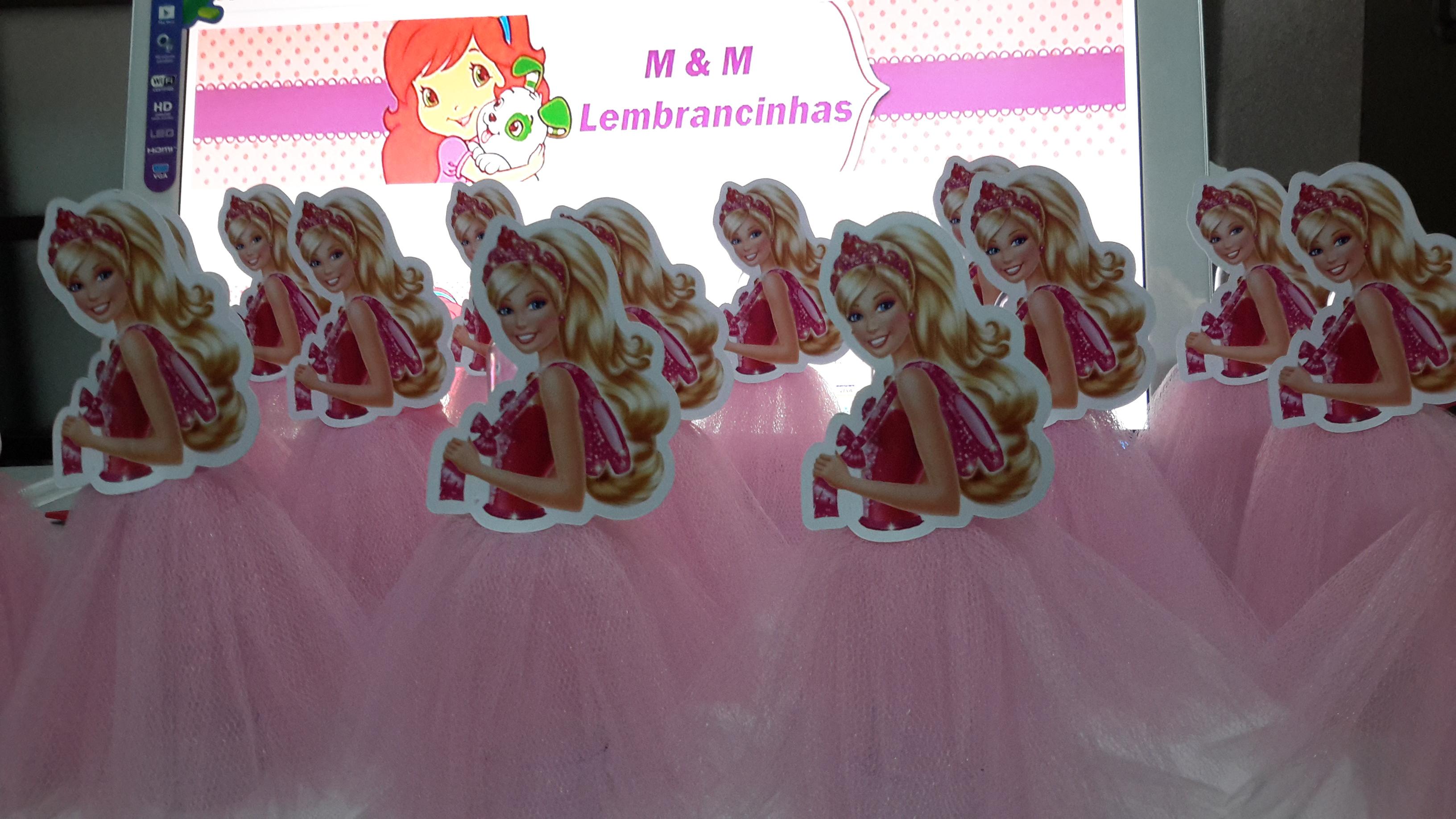 Tubetes decorados Barbie Sapatinhas Mag M&M Lembrancinhas Elo7 #C42207 3264x1836 Banheiro Da Barbie Para Comprar