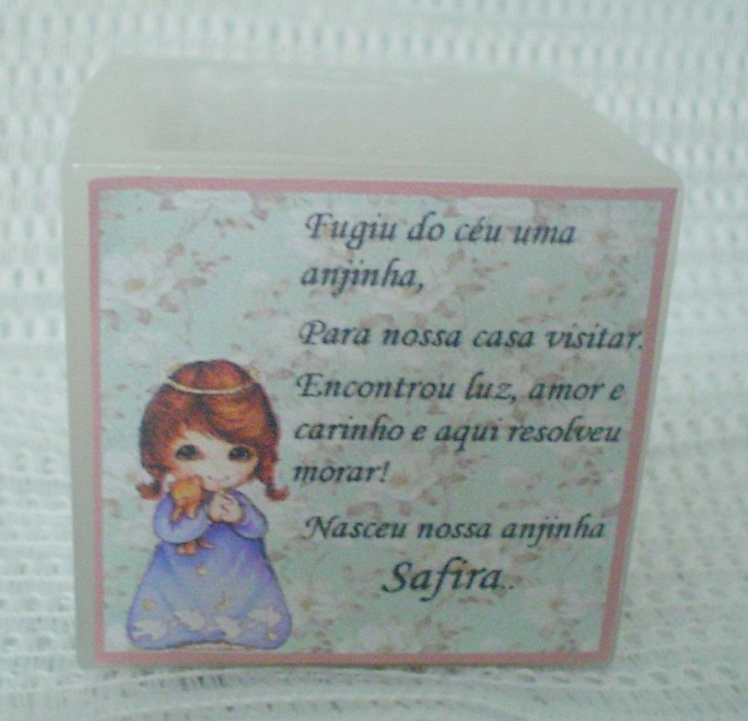 Kit 10 Lembrancinhas De Bebê Anjinha Menina No Elo7 Velas Tempo