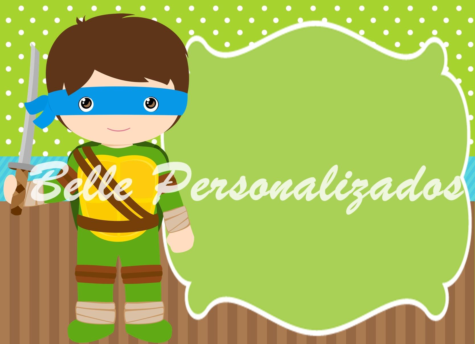 Favoritos Convite Virtual Tartarugas Ninja | Elo7 TX04