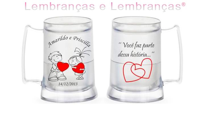 73f8f54f3 Lembrancinhas de casamento Caneca Gel no Elo7
