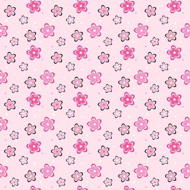 Papel de Parede Flores rosas  QCola  Elo7