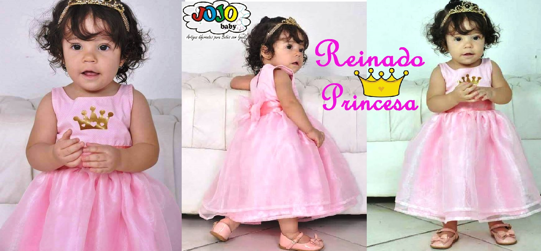 659d9da9fa JOJO Baby- Vestido Luxo Princesa Reinado no Elo7