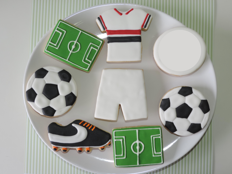Futebol - Coleção de Sugar Kisses Biscoitos Decorados ( 290b90)  2e4ec56993c98
