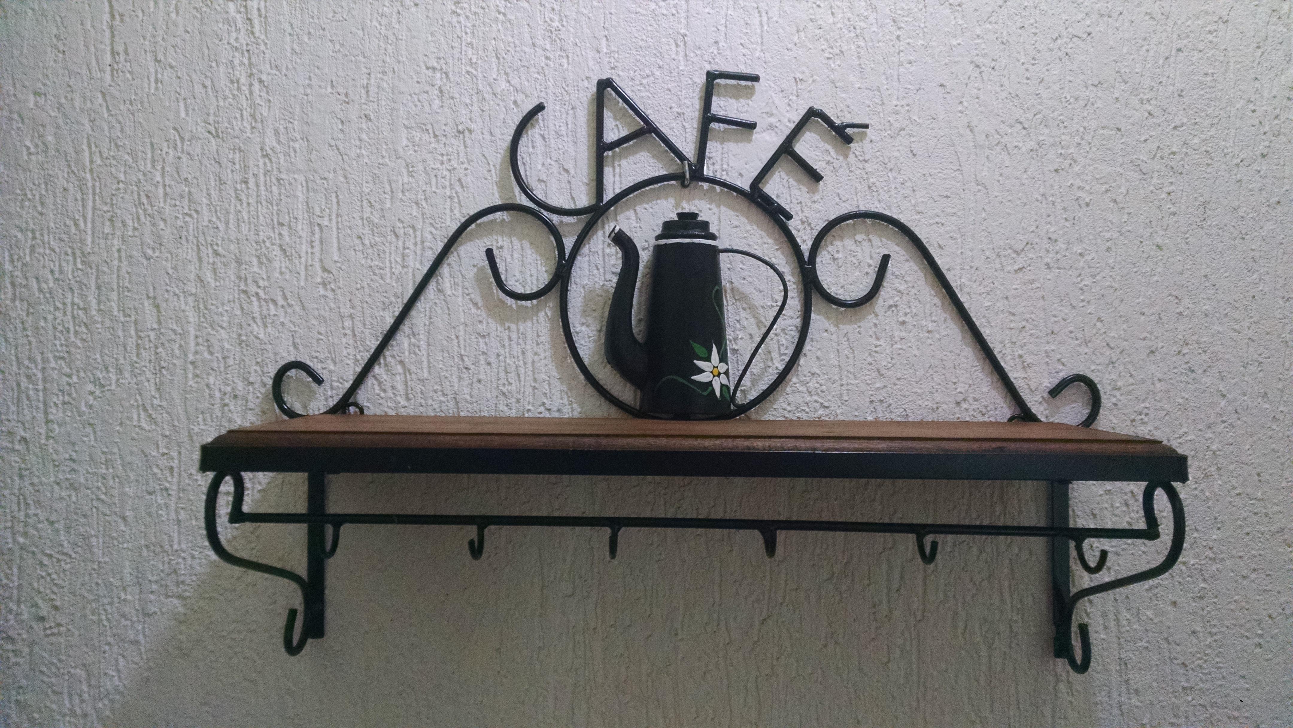 Armario Escritorio ~ Prateleira Rústica Café Madeira e Ferro Arte Del rey Elo7