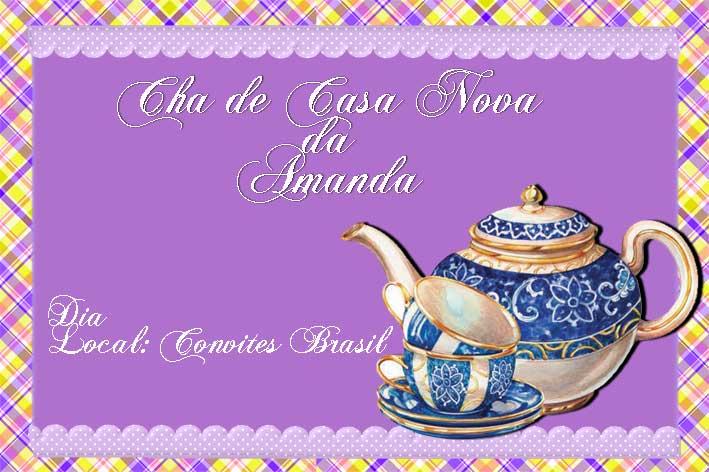 Convite Cha De Casa Nova Cvt15 Elo7