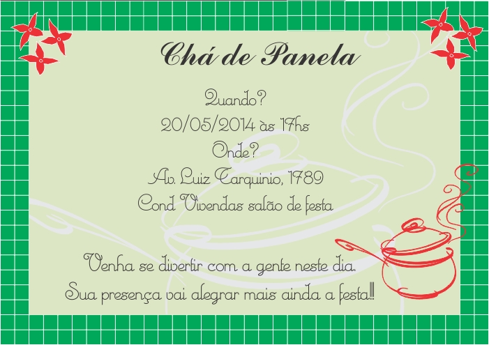 Convite Chá De Casa Nova Cvt22 No Elo7 Convites Brasil 4b9e41