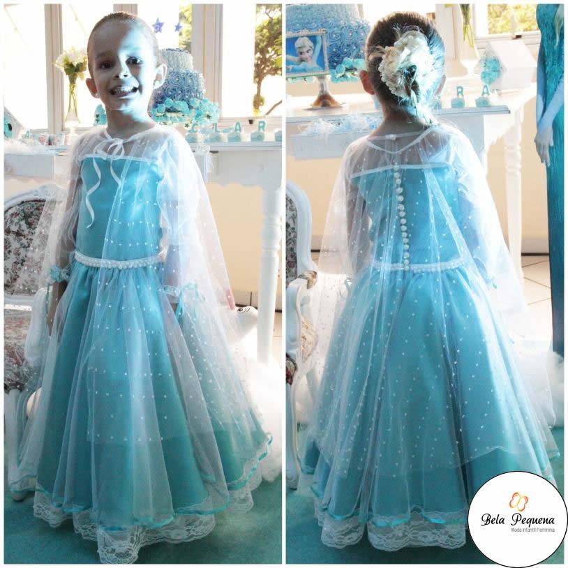 Vestido Azul Frozen Elsa Elo7