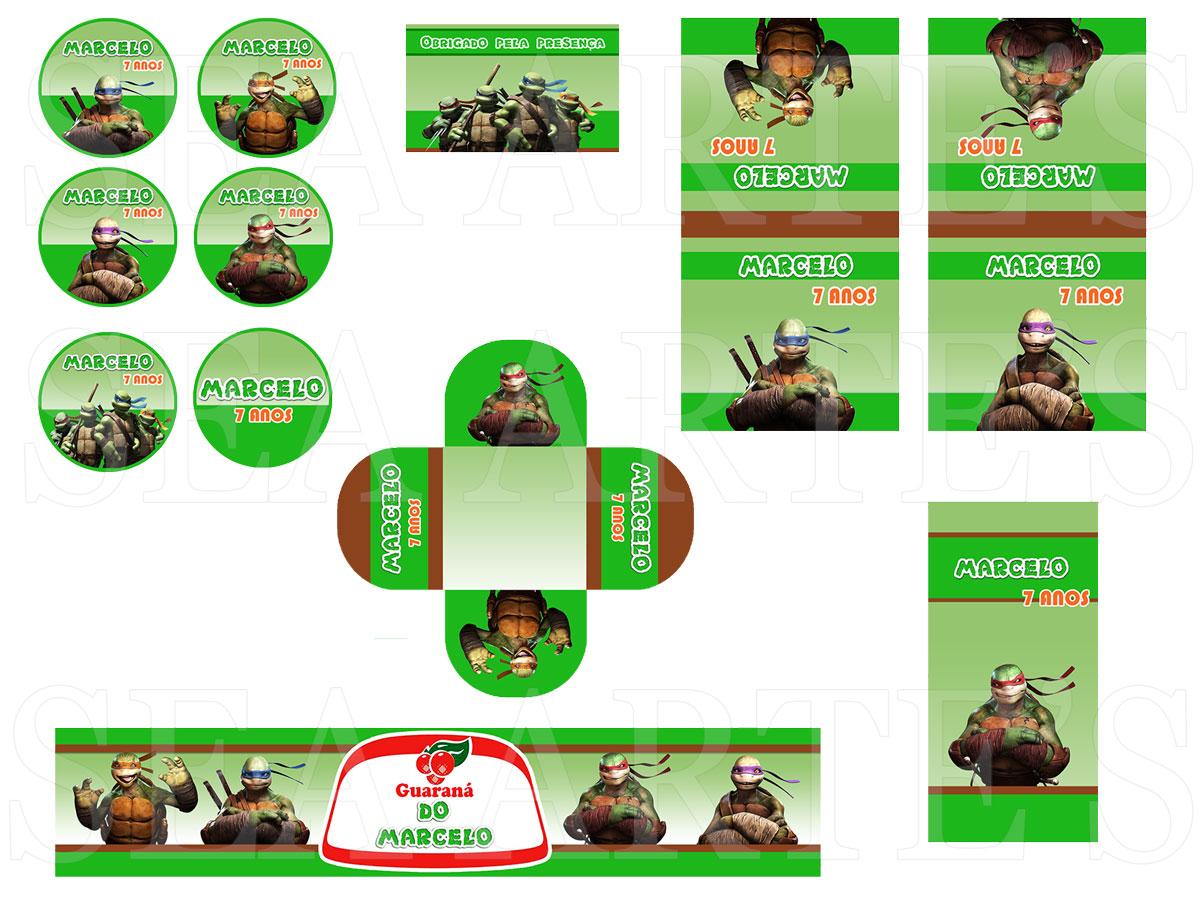 Kit Festa Digital Tartarugas Ninja No Elo7 Sea Artes 53e913