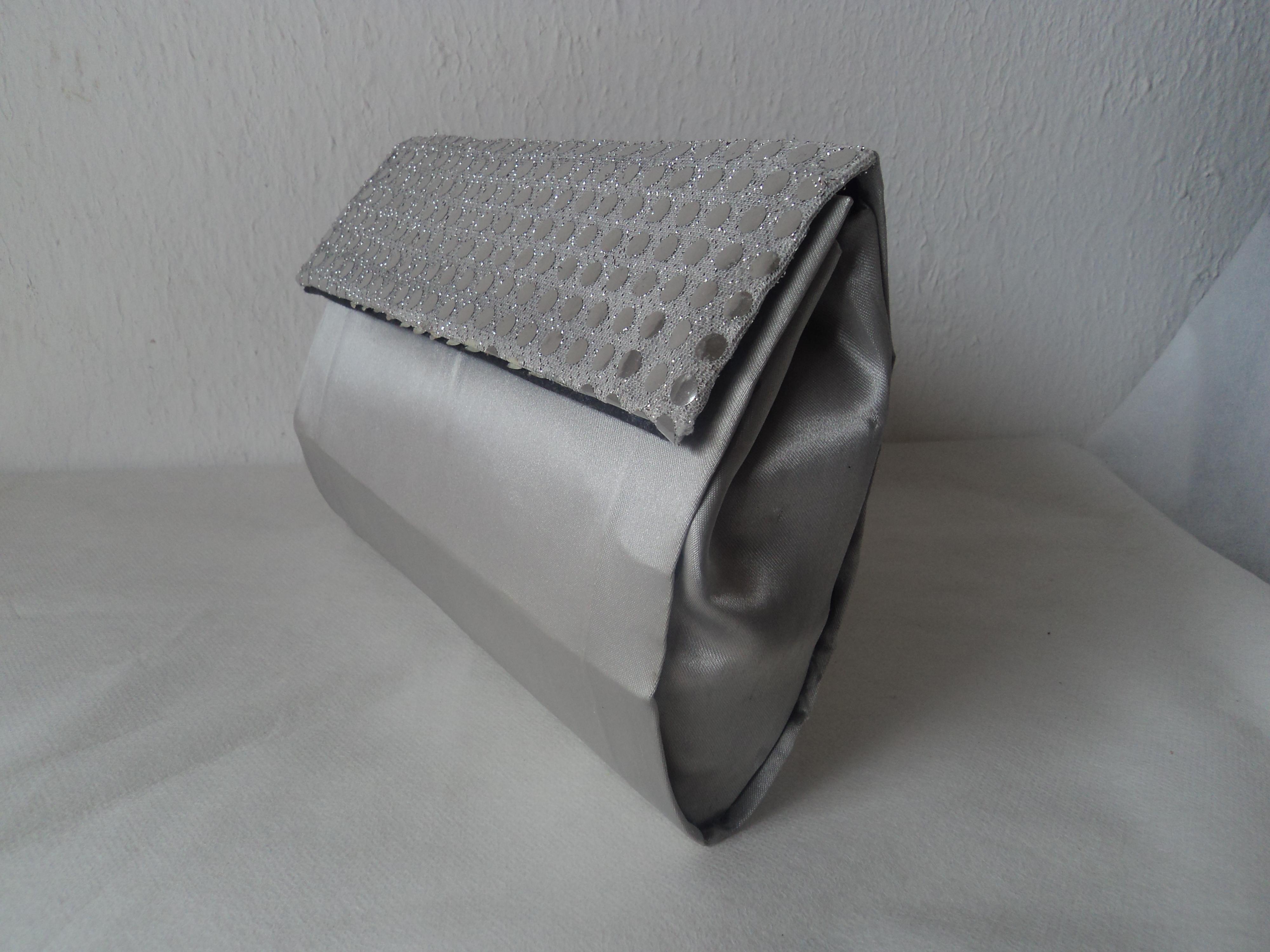 Bolsa De Mão Prata : Bolsa de m?o clutche prata fasc?nio acess?rios elo