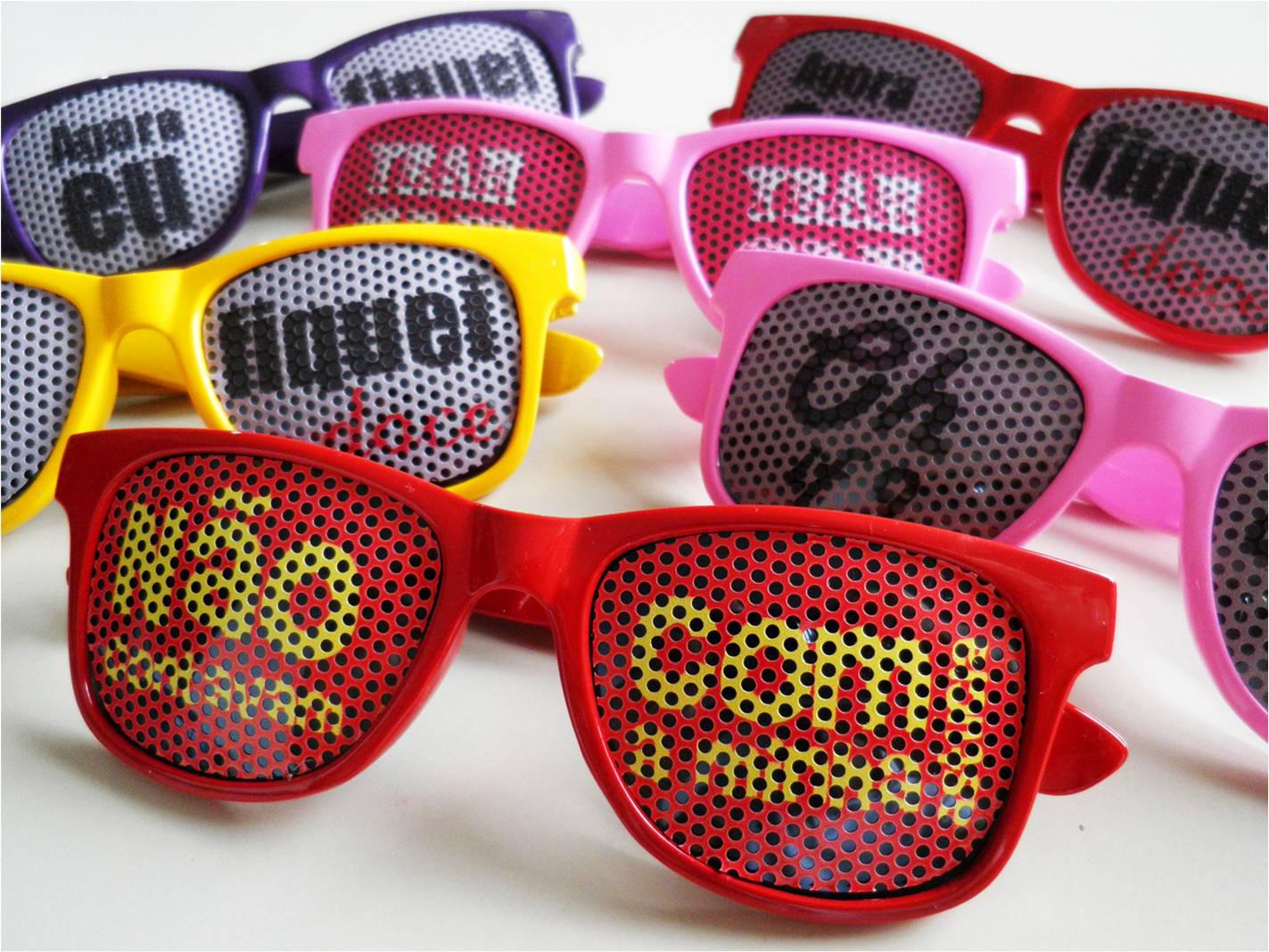 c137ff94f871b Óculos Personalizado Coloridos Lente no Elo7