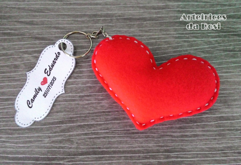 Chaveiro Coração Feltro no Elo7   Arteirices da Rosi (543E07)