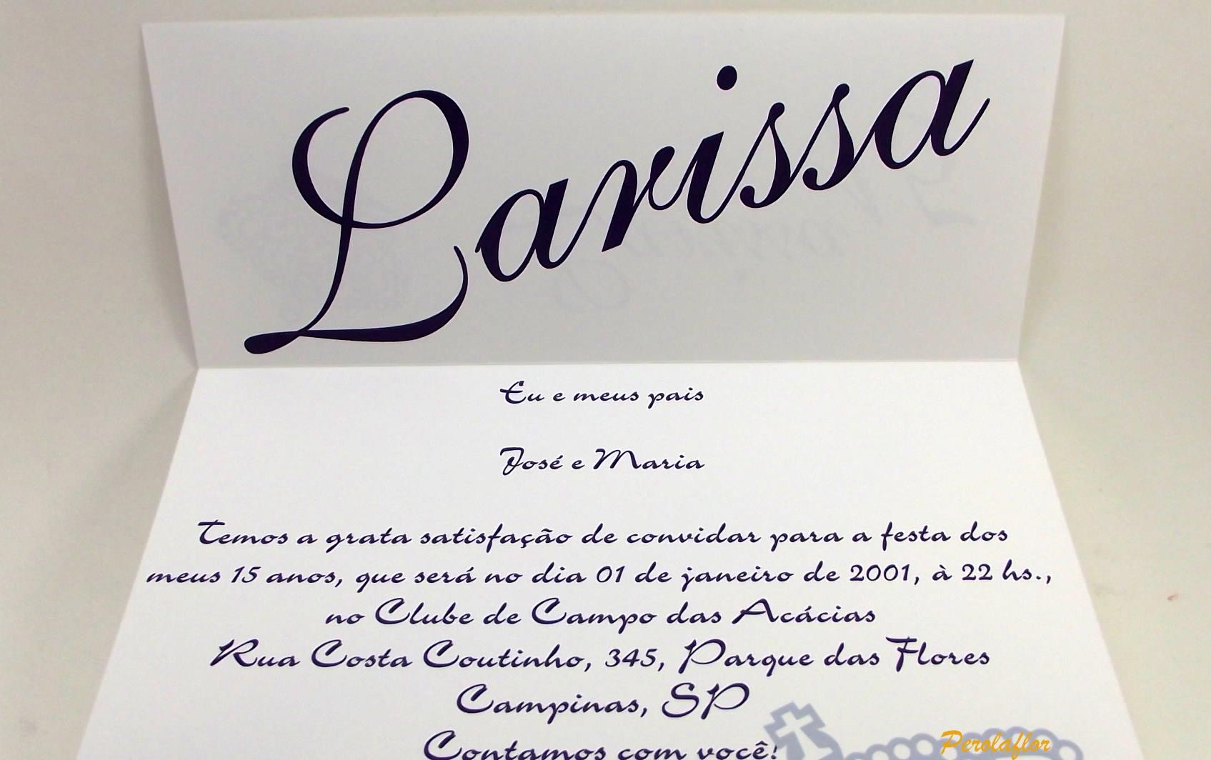 Convites Para 15 Anos Mod France No Elo7 Perolaflor 546781